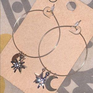 Moon & star earrings